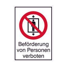 Verbots-Kombischild - Beförderung von Personen verboten