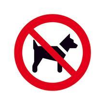 Verbotsschild - Mitführen von Hunden (Tieren) verboten
