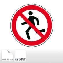 Verbotsschild - Laufen verboten