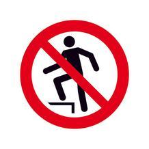 Verbotsschild - Auf die Fläche steigen verboten