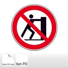 Verbotsschild - Schieben verboten