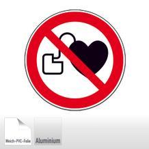 Verbotsschild - Kein Zutritt für Personen mit Herzschrittmachern oder