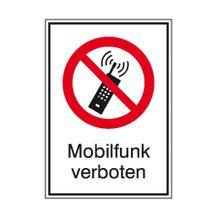 Verbots-Kombischild - Mobilfunk verboten