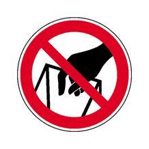 Verbotsschild - In die Schüttung greifen verboten