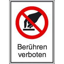 Verbots-Kombischild Berühren verboten