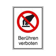 Verbots-Kombischild - Berühren verboten