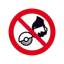 Verbotsschild - Nicht zulässig für Freihand und handgeführtes Schleifen