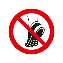 Verbotsschild - Metallbeschlagenes Schuhwerk verboten