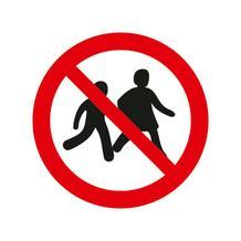Verbotsschild - Kinder verboten