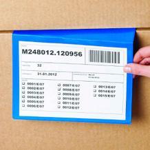 Kennzeichnungstaschen für gestapelte Kartons - in 2 Größen