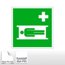 Erste-Hilfe-Schild Krankentrage