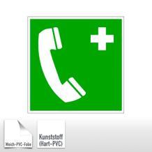Erste-Hilfe-Schild Notruftelefon