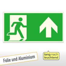 Kombischild - Notausgang rechts, aufwärts bzw.geradeaus