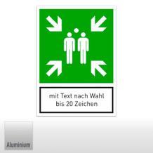 Fluchtwegschild - Sammelstelle, mit Text nach Wahl