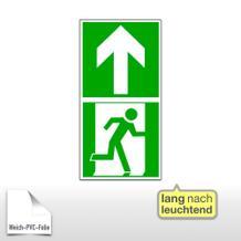 Bodenmarkierung Fluchtwegsymbol - Rettungsweg geradeaus, langnachleuchtend