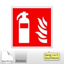 Brandschutzschild - Feuerlöscher, langnachleuchtend