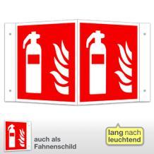 Feuerlöscher Winkel- und Fahnenschild, langnachleuchtend