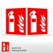 Feuerlöscher Winkel- und Fahnenschild