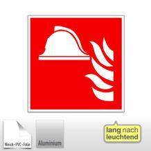 Brandschutzschild - Mittel und Geräte zur Brandbekämpfung, langnachleuchtend