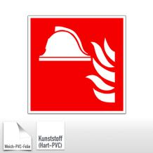 Brandschutzschild - Mittel und Geräte zur Brandbekämpfung