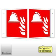Brandschutzschild - Winkel - langnachleuchtend Mittel und Gerät zur Brandbekämpfung