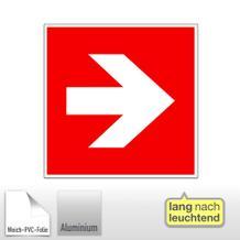 Brandschutz-Zusatzschild - Richtungsangabe rechts / links, langnachleuchtend