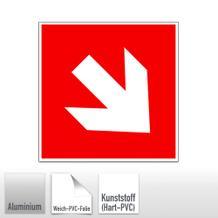 Brandschutz-Zusatzschild - Richtungsangabe aufwärts / abwärts