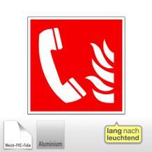 Brandschutzschild - langnachleuchtend Brandmeldetelefon