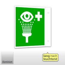 Erste-Hilfe-Schild - Fahne - langnachleuchtend Augenspüleinrichtung