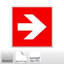 Brandschutz-Zusatzschild - Richtungsangabe rechts / links