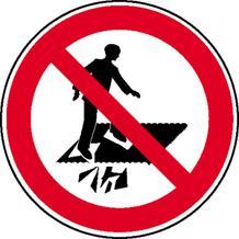 Verbotsschild - Betreten verboten, Durchsturzgefahr