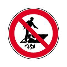 Verbotsschild - Betreten verboten Durchsturzgefahr