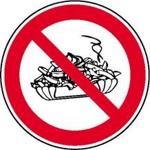 Verbotsschild - Mitnahme von Speisen verboten