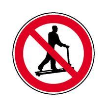 Verbotsschild - Mit Hubwagen rollen verboten