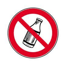 Verbotsschild - Flaschen hinauswerfen verboten