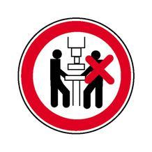 Verbotsschild - Maschine nur von 1 Person zu bedienen