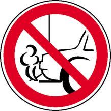 Verbotsschild - Verbot, mit dem Auspuff zur Wand zu parken