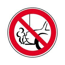 Verbotsschild - Nicht mit Auspuff zur Wand parken