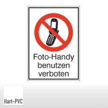 Verbots-Kombischild Foto-Handy benutzen verboten