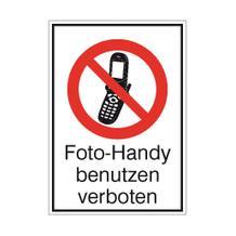 Verbots-Kombischild - Foto-Handy benutzen verboten