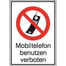 Verbots-Kombischild Mobiltelefon verboten