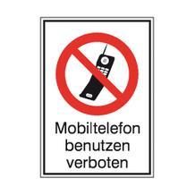 Verbots-Kombischild - Mobiltelefon verboten