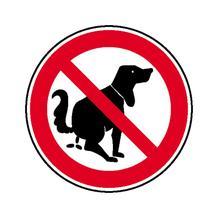 Verbotsschild - Hier kein Hundeklo