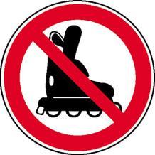 Verbotsschild - Inline-Skates verboten