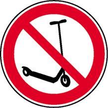 Verbotsschild - Kickboard fahren verboten