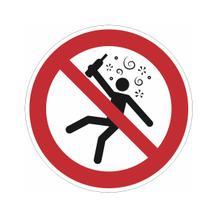 Verbotsschild - Verboten für Menschen im Rauschzustand