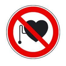Verbotsschild - Verbot für Personen mit Herzschrittmacher