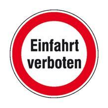 Verbotsschild - Einfahrt verboten