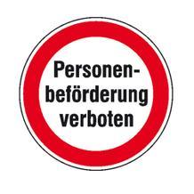 Hinweisschild - Personenbeförderung verboten