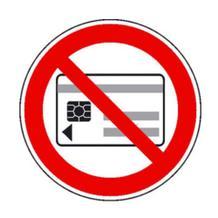 Verbotsschild - Keine magnetischen oder elektronischen Datenträger